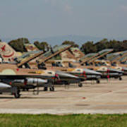 Israeli Air Force F-16`s Of Three Poster