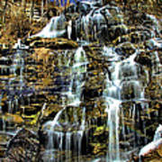 Issaqueena Falls With Rainbow Poster