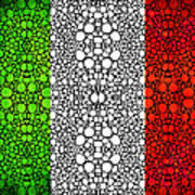 Italian Flag - Italy Stone Rock'd Art By Sharon Cummings Italia Poster
