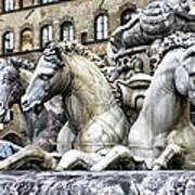 Italian Fountain Poster