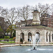 Italian Fountain In London Hyde Park Poster by Semmick Photo