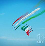 Italian Frecce Tricolori Aerobatics Team Poster