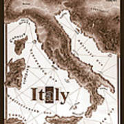 Italian Map Poster