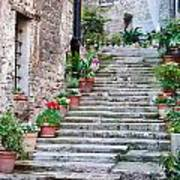 Italian Stairway Poster