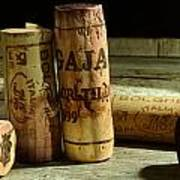Italian Wine Corks Poster