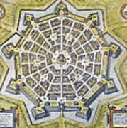 Italy: Palmanova Map, 1598 Poster