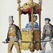 Italy Sedan Chair Poster