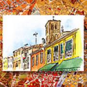 Italy Sketches Venice Via Nuova Poster