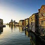 Italy, Venice, Buildings Along Canal Poster