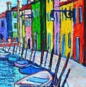 Italy - Venice - Colorful Burano - The Right Side  Poster
