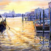 Italy Venice Dawning Poster by Yuriy Shevchuk