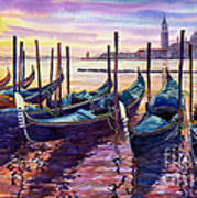 Italy Venice Early Mornings Poster
