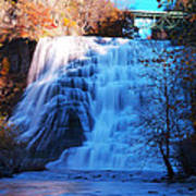 Ithaca Water Falls New York Panoramic Photography Poster