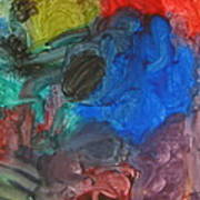 It's A Circle - Abstract Painting From A 2 Yr Old Boy Poster