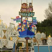 Its A Small World Fantasyland Signage Disneyland Poster