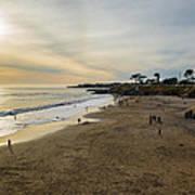 Its Beach Afternoon In Santa Cruz Poster