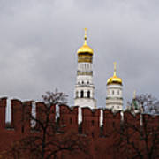 Ivan The Great Belfry Of Moscow Kremlin - Square Poster