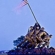 Iwo Jima Memorial At Dusk Poster
