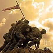 Iwo Jima Memorialized Poster