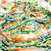 Jabba The Hutt Watercolor Portrait Poster