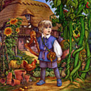 Jack And The Beanstalk By Carol Lawson Poster