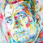 Jack Kerouac Portrait.1 Poster by Fabrizio Cassetta