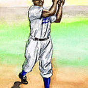 Jackie Robinson Poster by Mel Thompson