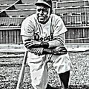 Jackie Robinson Painting Poster