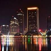 Jacksonville Night Poster