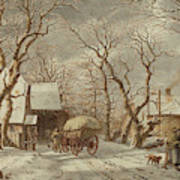 Jacob Cats Dutch, 1741 - 1799, Winter Scene Poster