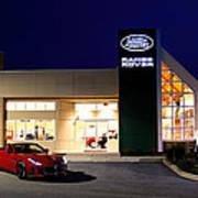 Jaguar Land Rover Harrisburg At Dark Poster
