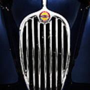 Jaguar Xk140 Grille Poster