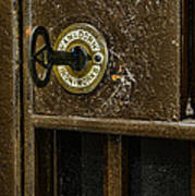 Jail Cell Door Lock  And Key Close Up Poster