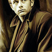 James Dean Artwork Poster