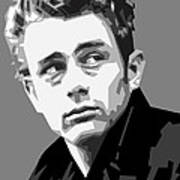 James Dean In Black And White Poster