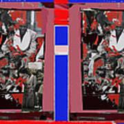James Earl Jones Smoking Twice Collage The Great White Hope Set Globe Arizona 1969-2012 Poster