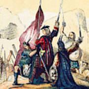 James IIi Lands In Scotland, 1715 Poster