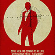 James Poster Red 3 Poster by Naxart Studio