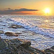 Jamestown Surf At First Light Poster