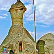 Jandarma Or Police Station In A Fairy Chimney In Cappadocia-turkey  Poster