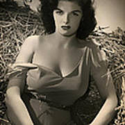 Jane Russell In The Outlaw Poster