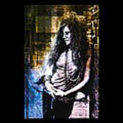Janis Joplin - Gold Poster
