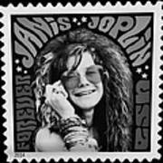 Janis Stamp In A Black And White Vibe Poster