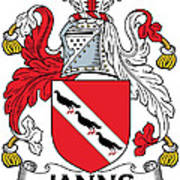 Janns Coat Of Arms Irish Poster