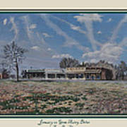 January On Gene Autry Drive Print Poster