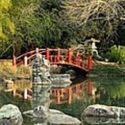 Japanese Bridge Over Water Poster