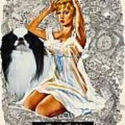 Japanese Chin Art - Una Parisienne Movie Poster Poster by Sandra Sij