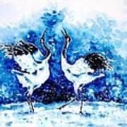 Japanese Cranes Poster