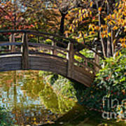 Japanese Garden In Fall Poster by Iris Greenwell