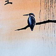 Japanese Kawasemi Kingfisher Feng Shui Earth Poster
